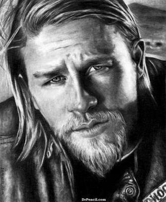 Charlie Hunnam as Jax Teller   Sons of Anarchy by Doctor Pencil on