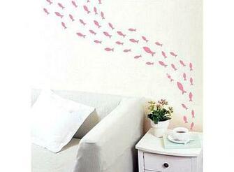 Small Fish Pattern Graffiti Removable Wallpaper JH098 Buy at lowest