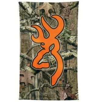 Browning Mossy Oak Camo Hunters Orange Beach Towel