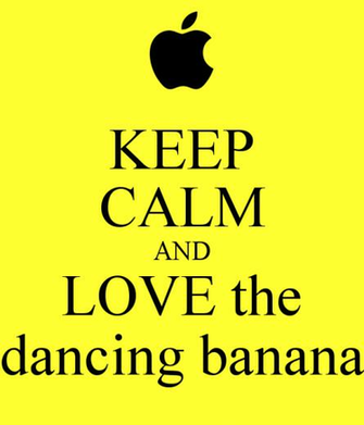 KEEP CALM AND LOVE the dancing banana   KEEP CALM AND CARRY ON Image