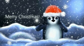 Cute Penguin Christmas Wallpaper Images Pictures   Becuo
