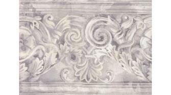 Home Grey White Stone Column Molding Wallpaper Border