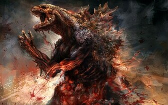 Godzilla 2014 Concept Artwork HD Wallpaper