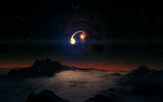 Black Hole Scene Wallpapers HD Wallpapers