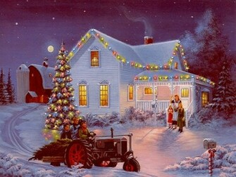 The Farm Cynthia Lang 1024   Christmas Photography Desktop Wallpapers