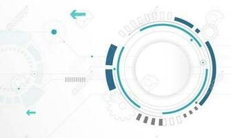 Abstract White Circle Digital Technology Background Futuristic
