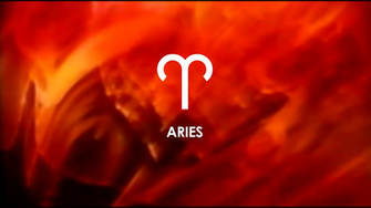 download Aries sign on a red background wallpapers and images