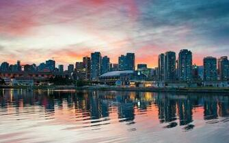 Sunset cityscapes vancouver skyscapes wallpaper 3840x2400 7934