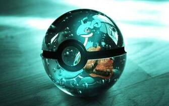 Shiny Pokeball Shiny Pokeball with Lapras on it