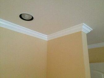 smoothed out wallpaper walls new crown molding and paint Yelp