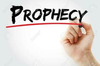 Hand Writing Prophecy With Marker Concept Background Stock Photo
