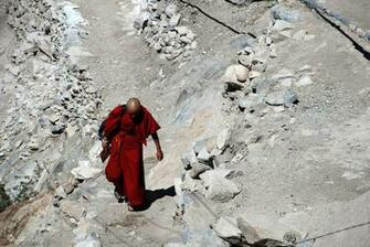 Buddhist Teacher going to the school   Tibetan Buddhist Wallpaper
