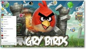 Angry Birds Theme for Windows 7 and Windows 8 [Game Themes]