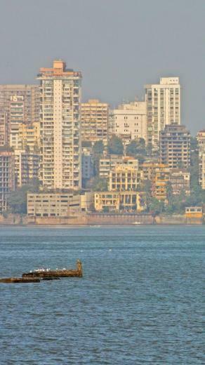 Mumbai Skyline India iPhone 5 wallpapers backgrounds 640 x 1136