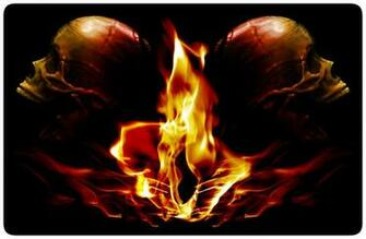 Cool Flaming Skull Wallpapers Flaming skulls by modernerd