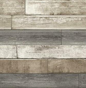 Weathered Plank Gray Wood Texture Wallpaper Swatch modern wallpaper
