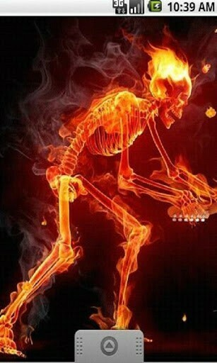 View bigger   Fire Skull Music LiveWallpaper for Android screenshot