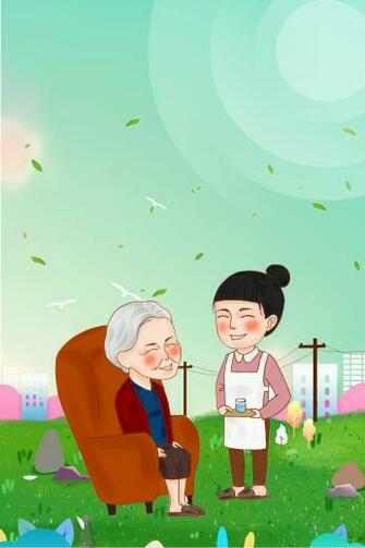 Filial Piety Parents Charity Poster Background Cartoon Old Man