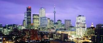 Toronto Canada Night City Lights Light Wallpaper Background