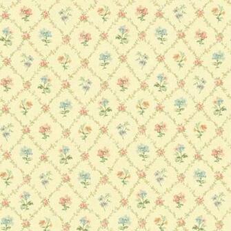 522 30805 Yellow Mini Floral Trellis   Fairwinds Studio Wallpaper