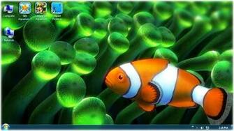 windows 7 desktop live fish wallpaper