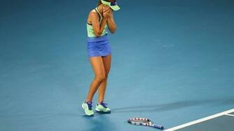 Australian Open Sofia Kenin Defeats Garbie Muguruza for Her