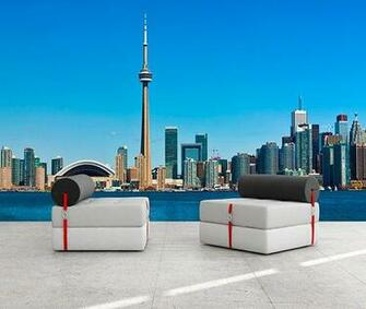 Toronto Skyline Wall Decal Wall decals and stickers toronto