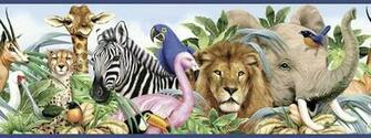 Wild Animal Wallpaper Border Jungle animals border   wall