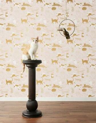 Cats Meow Blush Wallpaper Hygge West