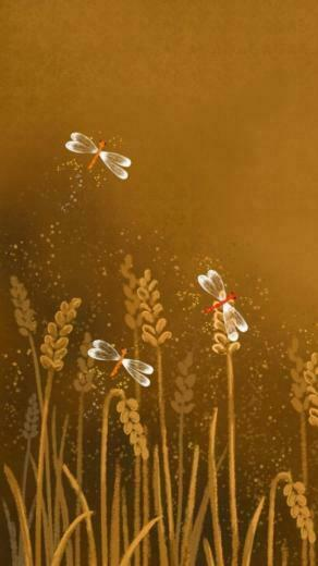 Cartoon Dragonflies Illustration Wallpaper   iPhone Wallpapers