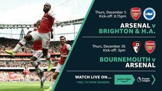 Arsenal games live on Amazon Prime Video Partner promotion