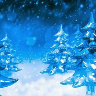 Christmas trees   wallpaper for download