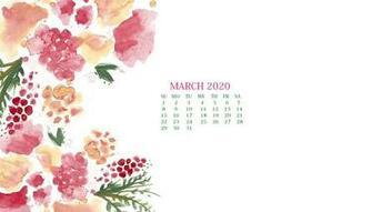 March 2020 Calendar Wallpaper   Desktop and iPhone