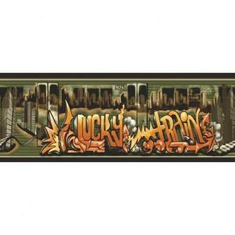 Sanitas 10 14 Lucky Train Prepasted Wallpaper Border at Lowescom