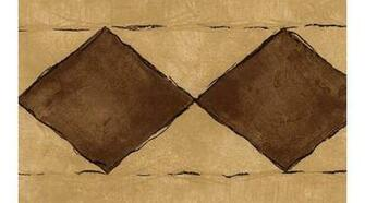 Home Brown Diamond Wallpaper Border