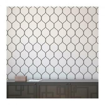 Wall Stencil Lattice Trellis Quatrefoil Pattern Azure  set2 sheets