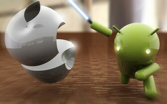 Apple vs Android wallpaper 2240