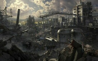 Home FantasyHD Wallpapers Destroyed City Wallpaper