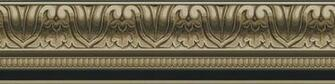 Details about Wallpaper Border Taupe Black Faux Crown Molding