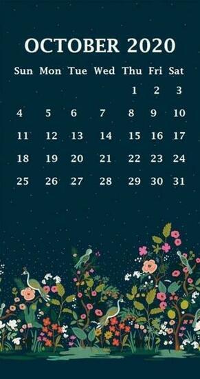 iPhone October 2020 Calendar Wallpaper Calendar wallpaper