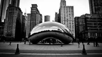 Chicago Winter Bean   wallpaper