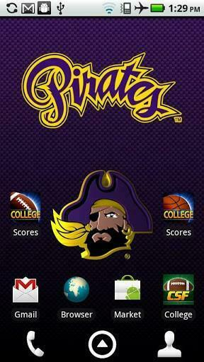 Officially licensed East Carolina Pirates Live Wallpaper with