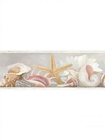 AZ5203BD Sea Shell Wallpaper Border Ocean Beach House eBay