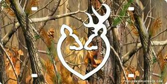 Browning Camo Backgrounds Browning doe buck heart