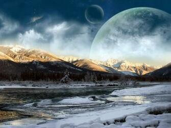 Moon Mountains Laptop Wallpaper Wallpaper Desktop HD Download