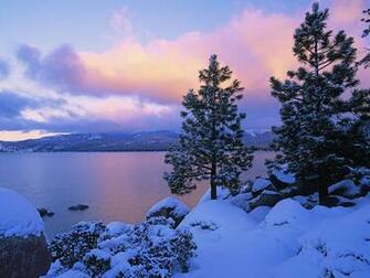 of Winter Lake Tahoe photo Colors of Winter Lake Tahoe wallpaper