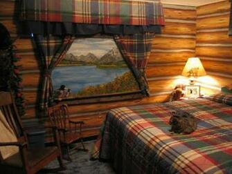 faux log cabin wallpaper Log Cabin Retreat Log cabin in the