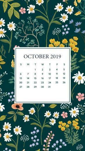 October 2019 Mobile Calendar Wallpaper in 2019 Iphone wallpaper