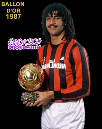 Ruud Gullit winner Ballon dOr award 1987 by A8WASSEL on
