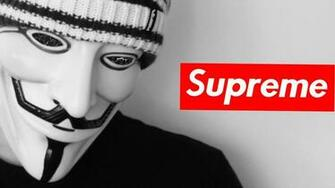 Anonymous supreme dark watch wallpaper 52538
